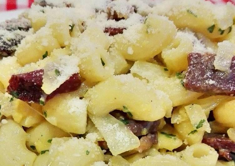 Resep Schinken nudeln (pasta dengan smoked beef)
