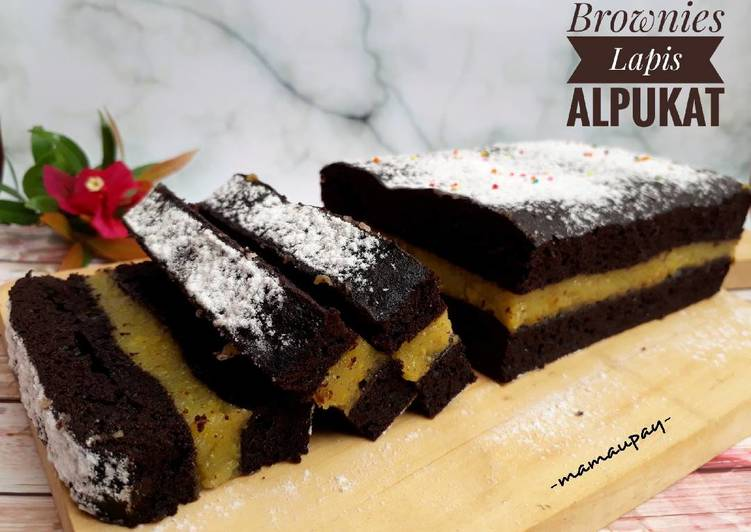 Resep Brownies Lapis Alpukat