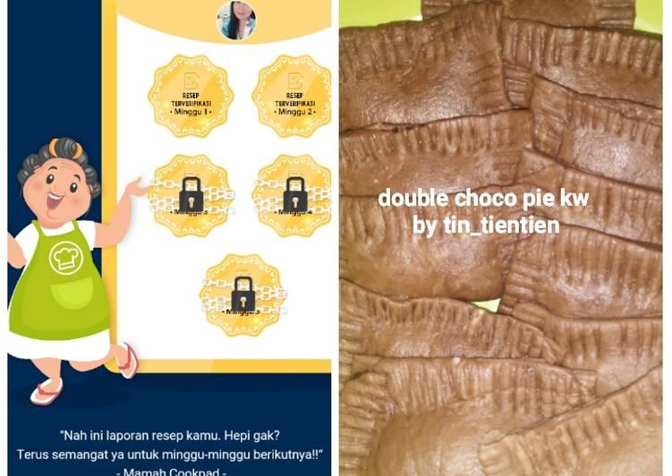 Resep Double choco pie kw