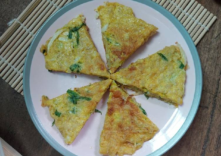 Resep Omelete Mie + Sayuran