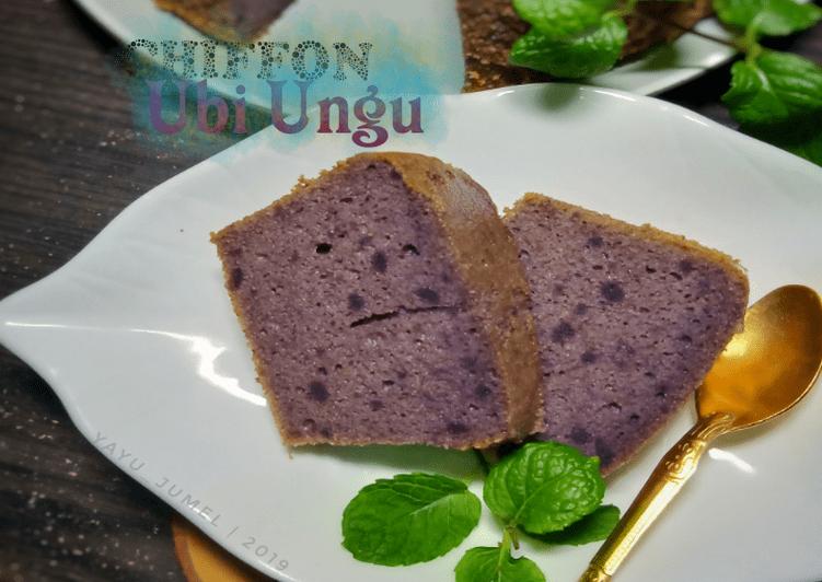 Resep Chiffon (tepung) Ubi Ungu