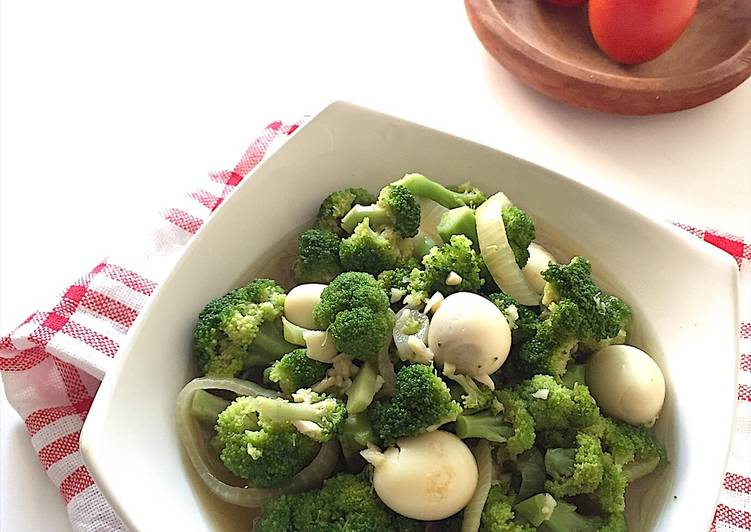Resep Cah Brokoli Telur Puyuh Saos Tiram