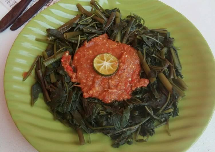 Resep Plecing kangkung