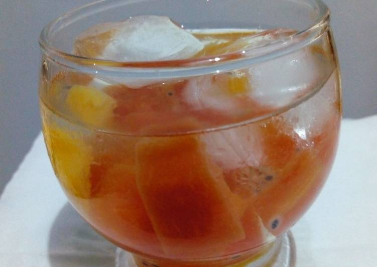 Resep Es Buah/ Fruit Cocktail