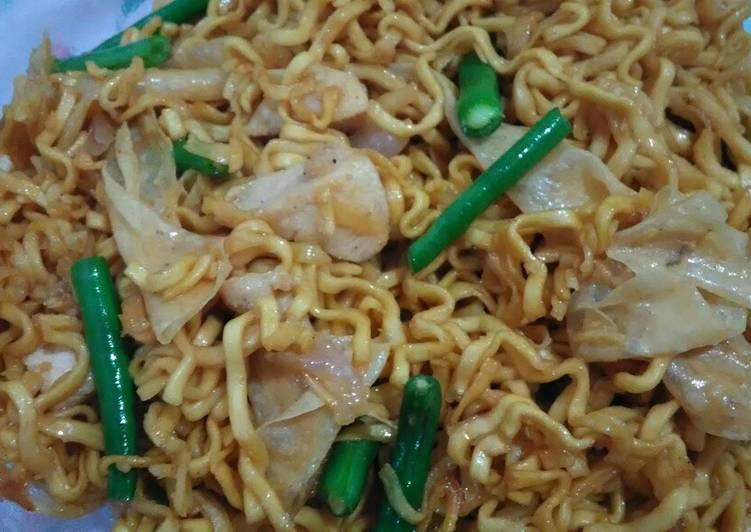 Resep Mie goreng ayam buncis kembang tahu