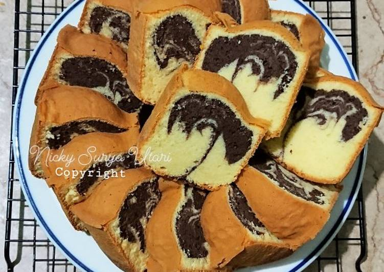 Resep Marmer Cake Jadul Pak Sahak (All in One Method)