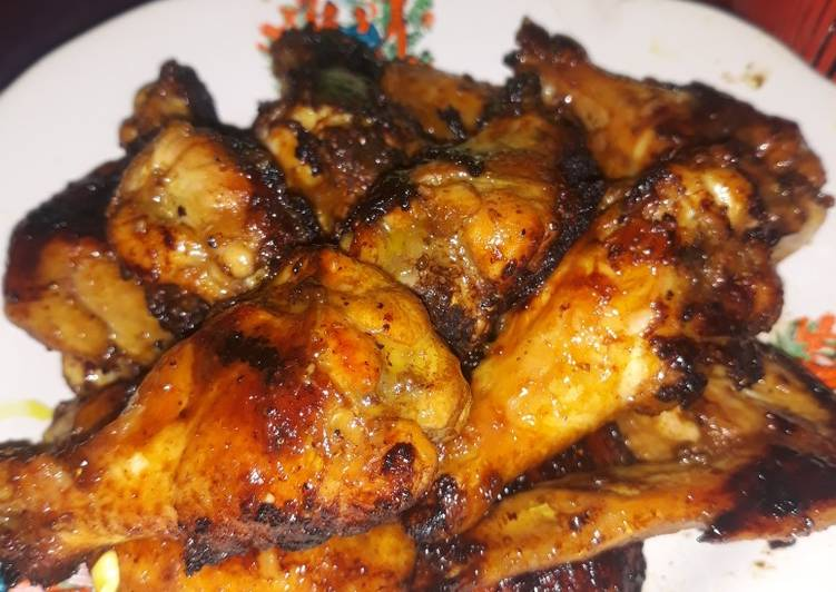 Resep Chicken wings / sayap panggang teflon