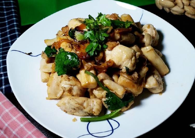 Resep Garlic Chicken Mushroom (Menu Buka Puasa Day9)