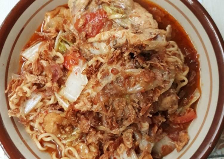 Resep Mie Tulang Ayam Pedas