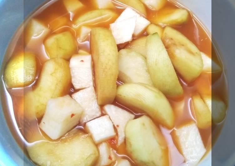 Resep Asinan Buah (Apel & Bengkoang)