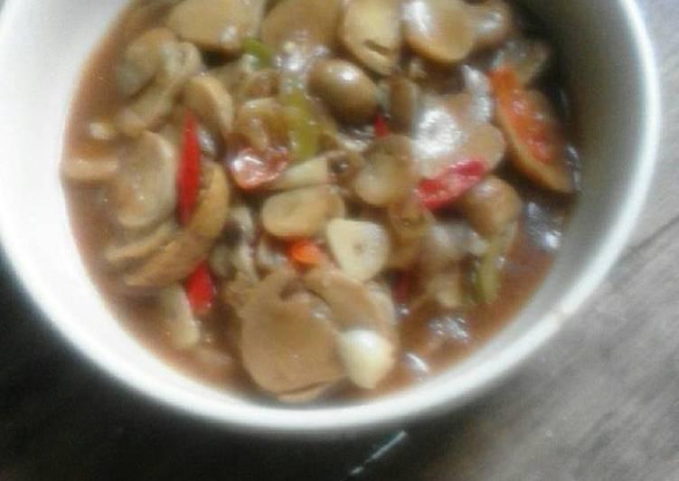 Resep Jamur Merang Saos Tiram..lezattt