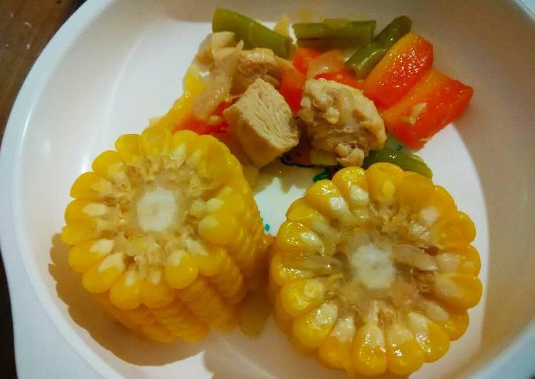 Resep Day. Tumis Ayam Sayuran (month+)