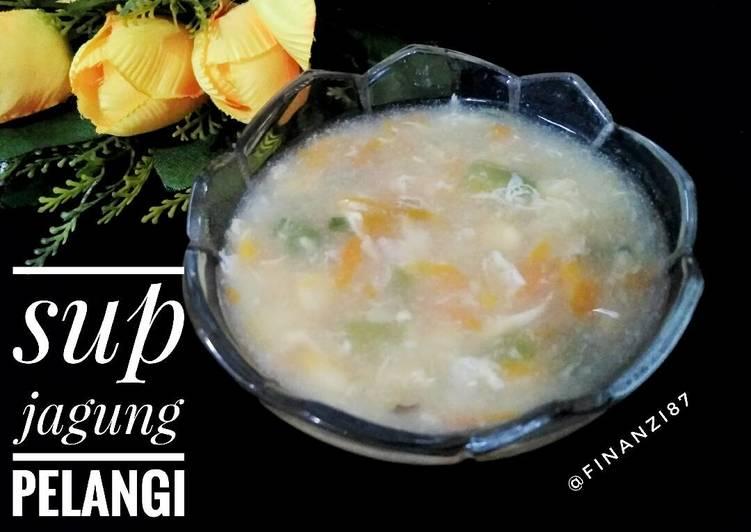 Resep Sup jagung pelangi
