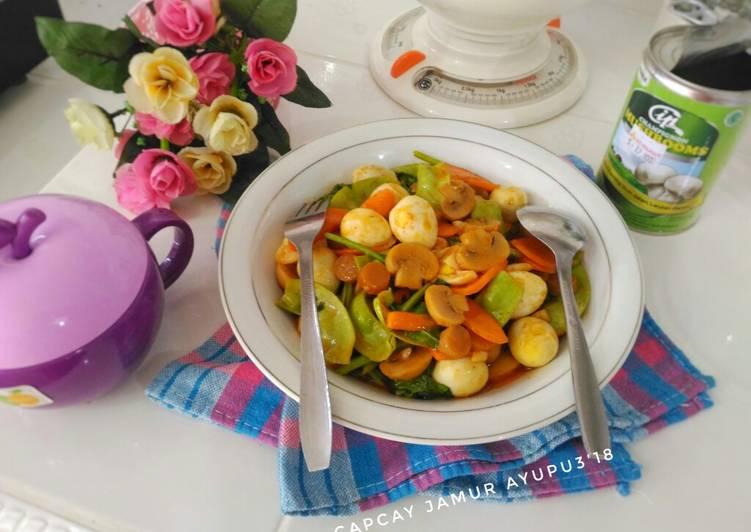 Resep Capcay jamur