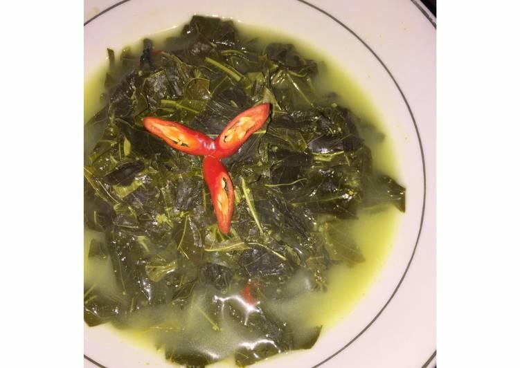 Resep Sayur daun singkong with fibercreme