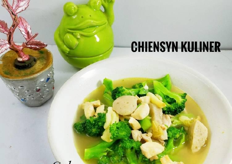 Resep Cah Brokoli Bakso sederhana