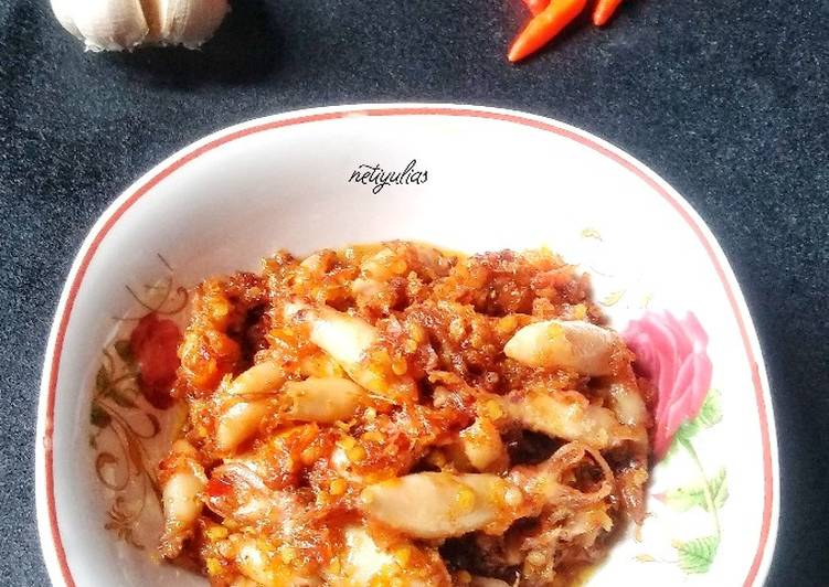 Resep Sambal bawang baby cumi