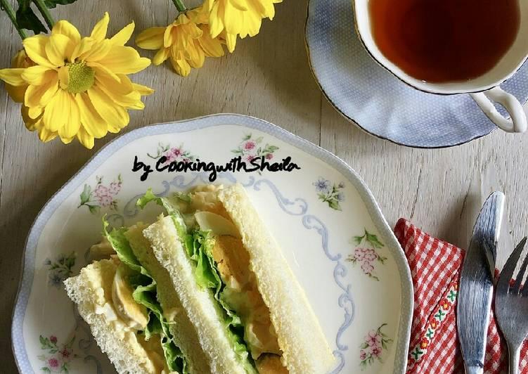 Resep Creamy Egg Sandwich
