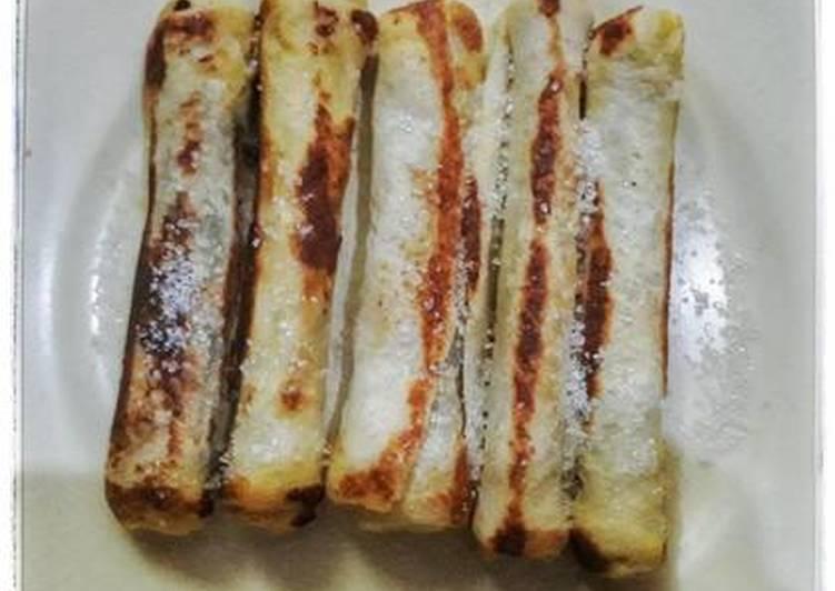 Resep Roti Tawar Goreng (Pisang Nutella)