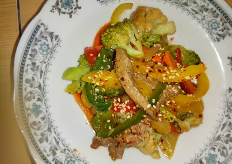 Resep Oseng daging dan sayuran
