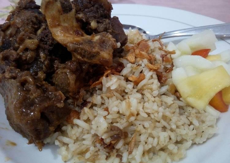 Resep Nasi kabuli + krengsengan sapi/ kambing No Ribet