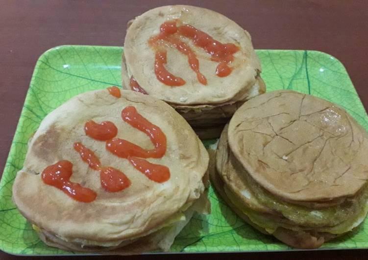 Resep Roti burger simple