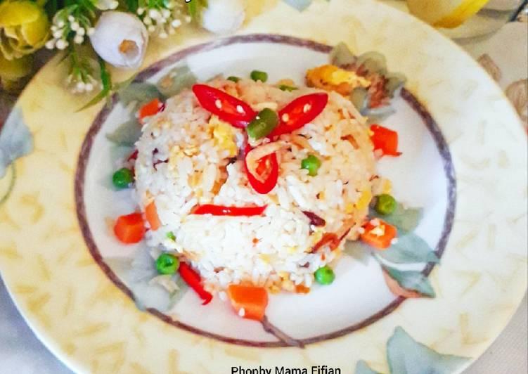 Resep Nasi Goreng Rebon Telur Blueband