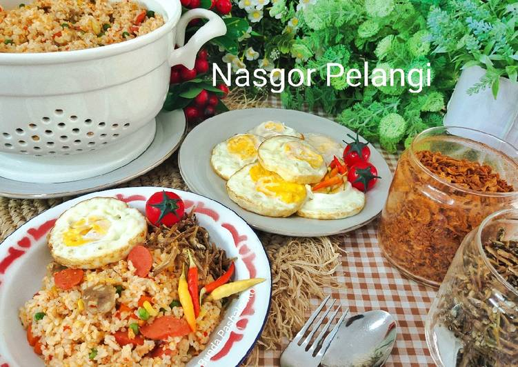 Resep Nasgor Pelangi
