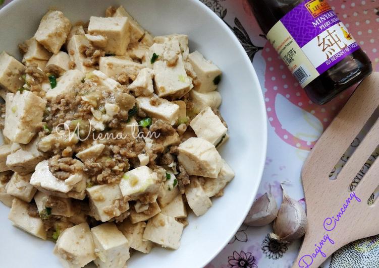 Resep Mun Tahu Daging Cincang