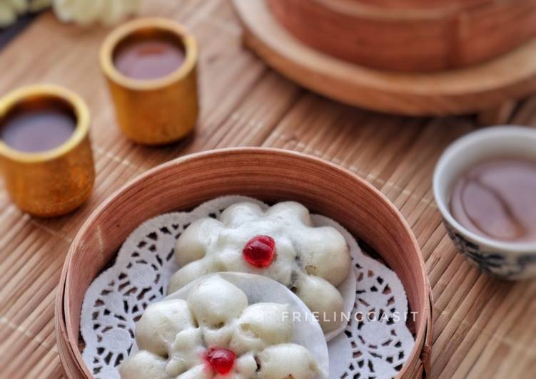 Resep Bakpao Bunga isi Kacang Merah