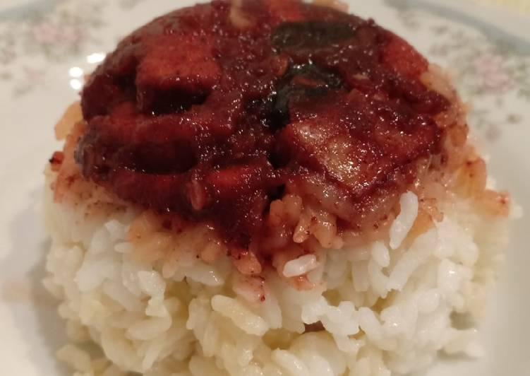 Resep Nasi Tim Cashew Pork