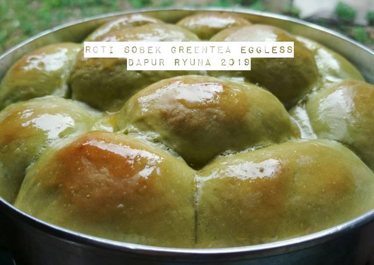 Resep Roti Sobek Greentea Eggless