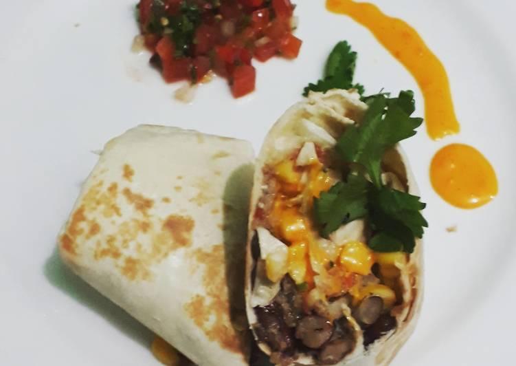 Resep Burrito pico de gallo