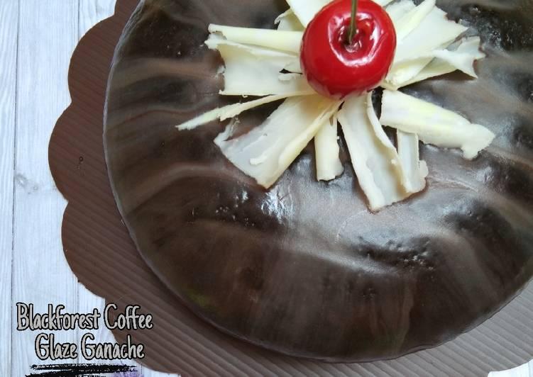 Resep Blackforest Coffee Glaze Ganache