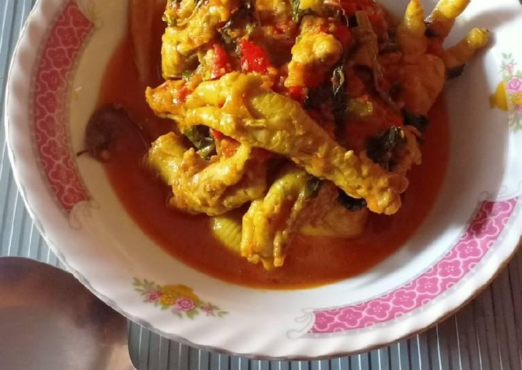 Resep Ceker Ayam Rica Rica