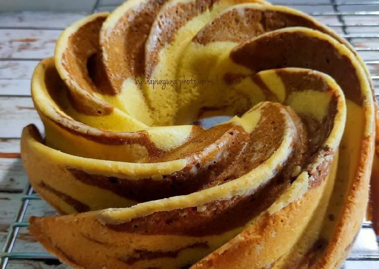 Resep Mocca Marble Cake (loyang swirl)