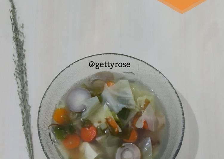Resep Sop Jamur Kancing