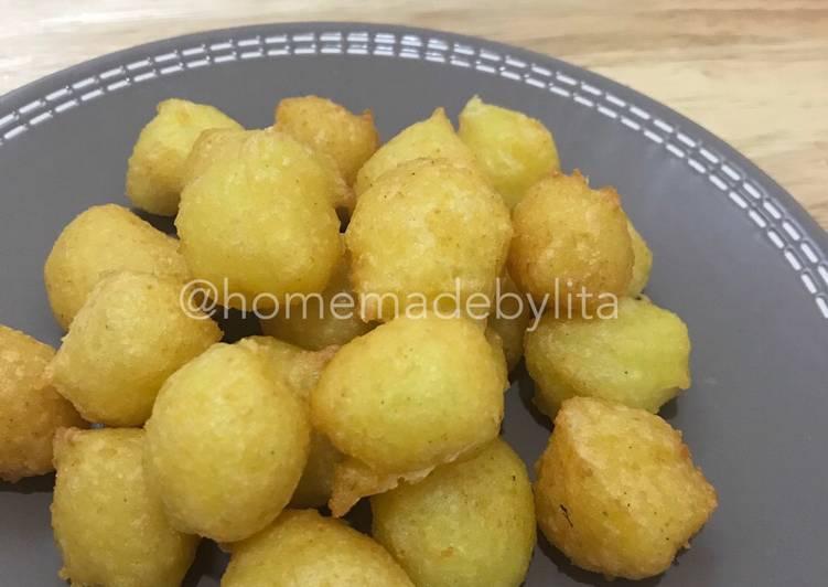 Resep Cemilan mudah kentang keju cikibol #homemadebylita