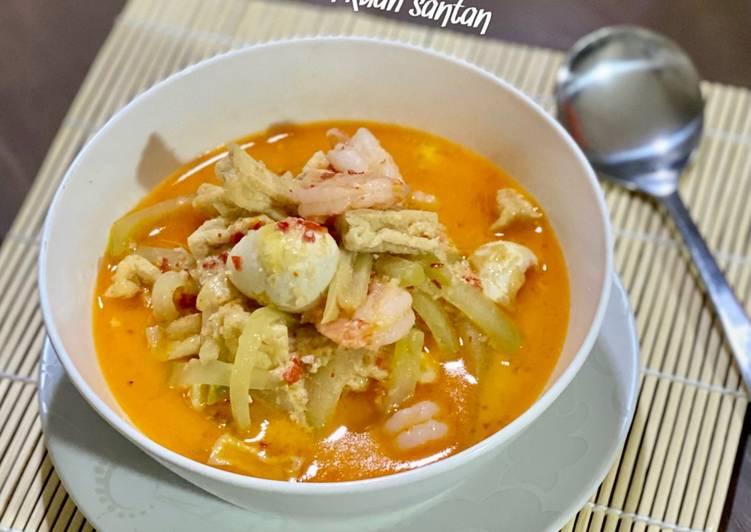Resep Labu Siam Kuah Santan (+lauk suka2)