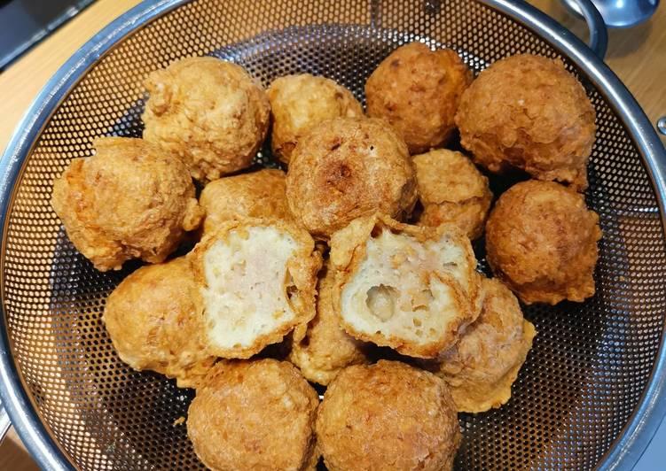 Resep Bakso babi goreng non halal asian food
