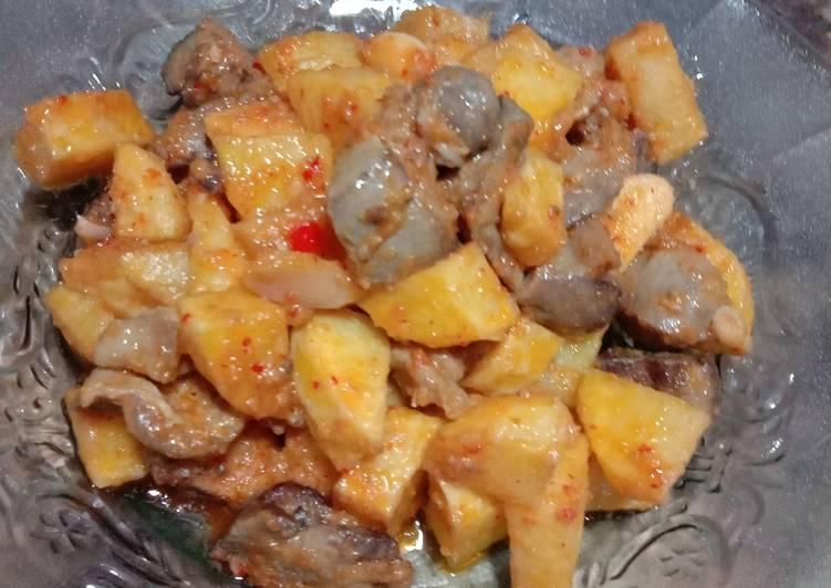 Resep Sambal goreng kentang + Ati ampela