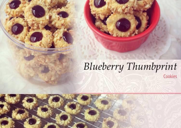 Resep Blueberry Thumbprint Cookies