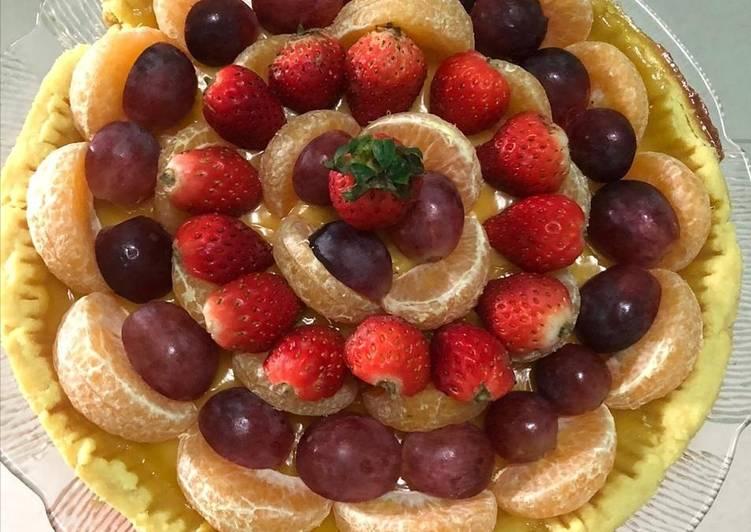 Resep Birthday Cake (Pie Susu Teflon Buah)