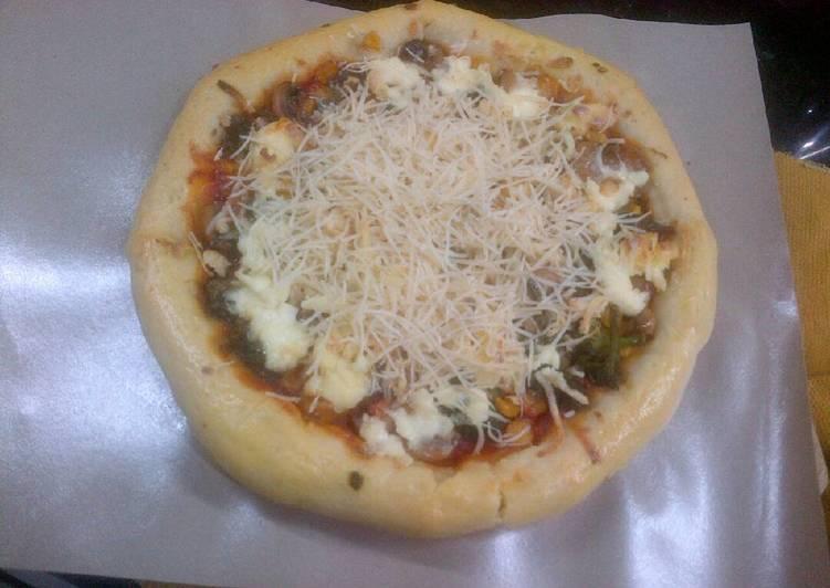 Resep Pizza sayuran empuk chesse lumer,iritt praktis