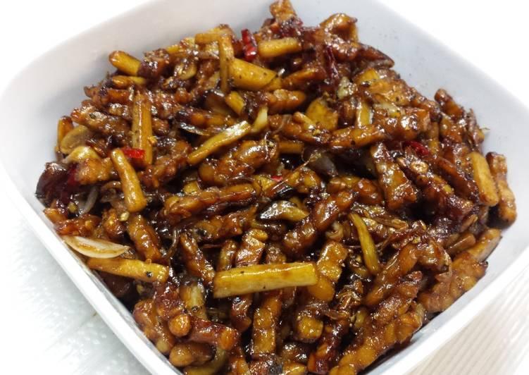 Resep Kering tempe + jamur