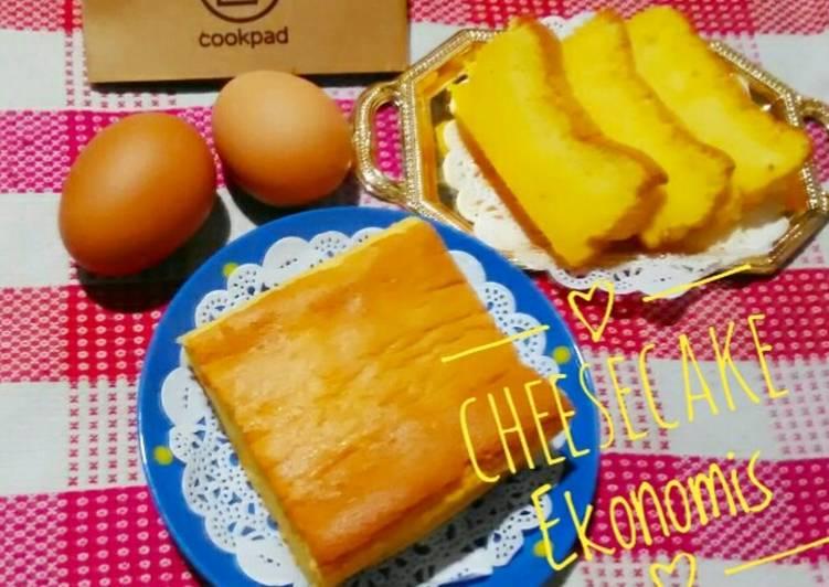 Resep Cheese Cake Ekonomis (Irit tanpa cream cheese)