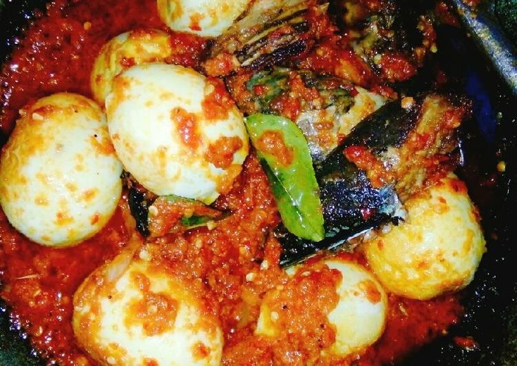 Resep #Balado telur dan ikan tongkol