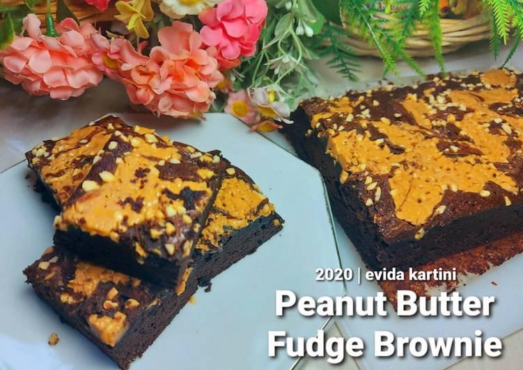 Resep Peanut Butter Fudge Brownie