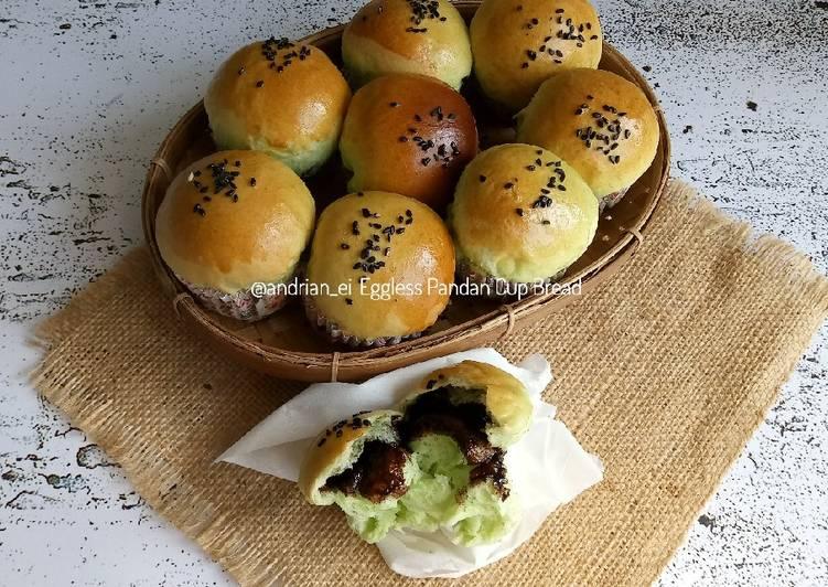 Resep Eggless Pandan Cup Bread