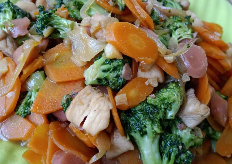 Resep Tumis Brokoli Ayam Sosis